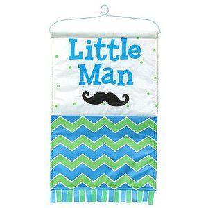 Little Man Blue & Green Chevron Print Nylon Baby B